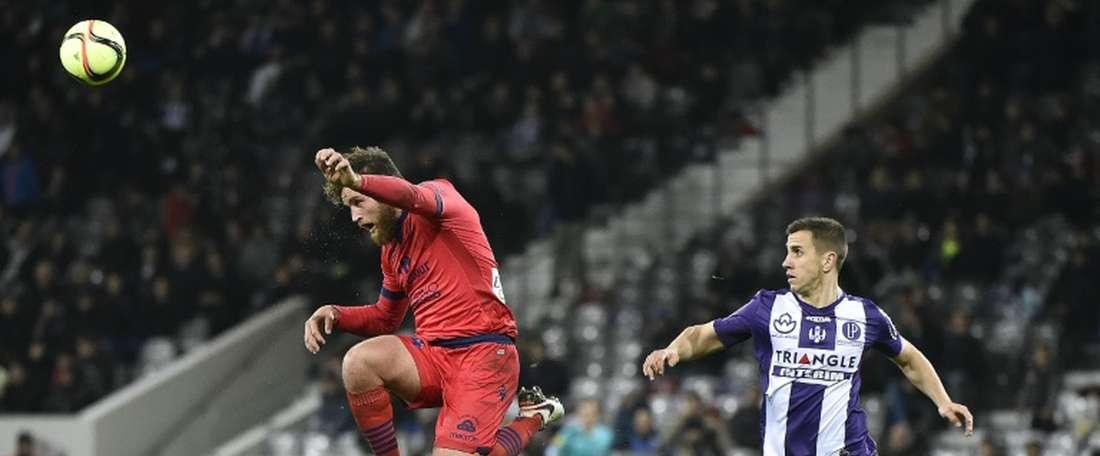 Aleksandar Pesis lors d'un match de Ligue 1 avec Toulouse. AFP
