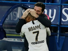 Kylian Mbappe scored the winner against Caen on Saturday. AFP