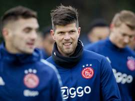 Klaas Jan Huntelaar, 37, has left Ajax to rejoin Bundesliga strugglers Schalke. AFP