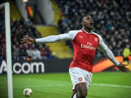 Danny Welbeck scored twice as Arsenal eased past Brentford. AFP