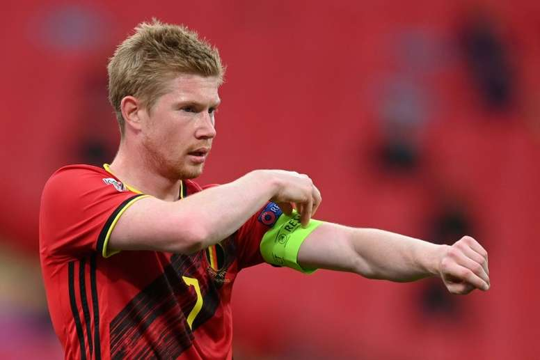 De Bruyne is out. AFP