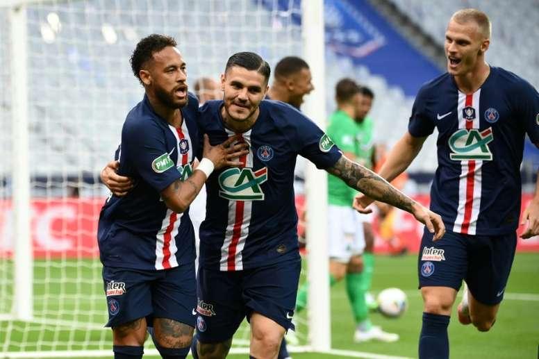 El PSG recuperó el trono que perdió el año pasado a manos del Rennes. AFP