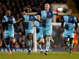 Les joueurs de Wycombe Wanderers. AFP