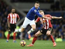 Evertons striker Kevin Mirallas. AFP
