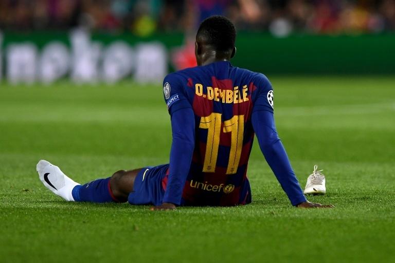Barcelona forward Ousmane Dembele suffers injury setback