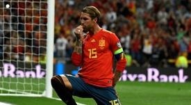 Ramos' penalty broke the deadlock in Madrid. AFP