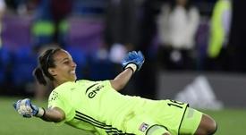 Lyons goalkeeper Sarah Bouhaddi. AFP