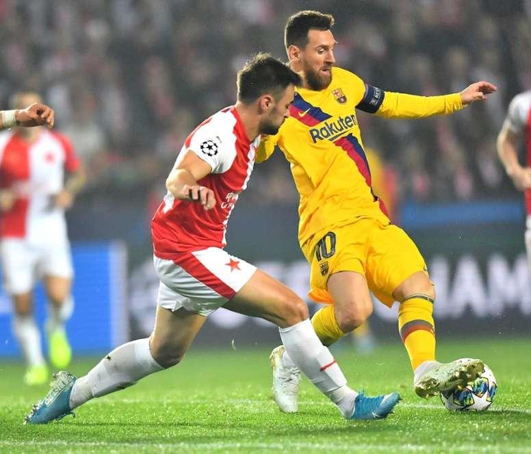 O Slavia avisou que é perigoso jogando em casa. AFP