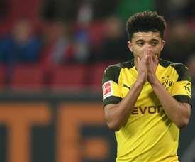 Borussia Dortmund não pensa em perder Jadon Sancho. AFP