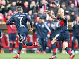 Ribery was on the scoresheet for Bayern in their game against Mainz. AFP