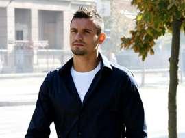 Dejan Lovren arrives at a tribunal to testify against Zdravko Mamic. AFP