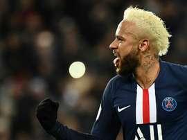 Neymar, pronto para a Champions. AFP