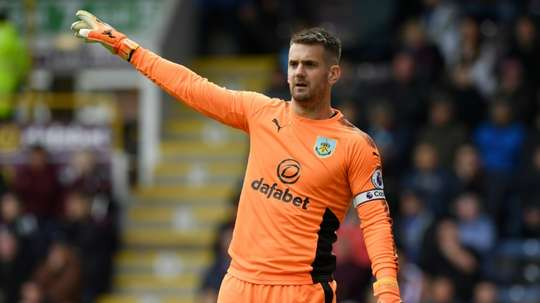 Heaton could return to the pitch after injury imminently. AFP