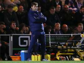 Pochettino, in danger at Tottenham. AFP