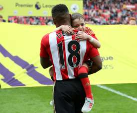 Defoe formed a close relationship with Bradley Lowery. AFP