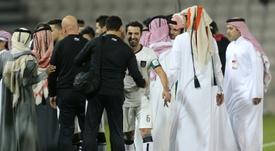 Xavi ha ganado la Copa de Catar con el Al Sadd. AFP/Archivo