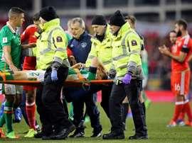 Coleman fue intervenido de su fractura de tibia y peroné. AFP