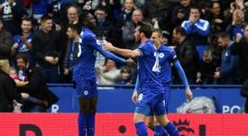 Ndidi marcó en el último minuto. AFP