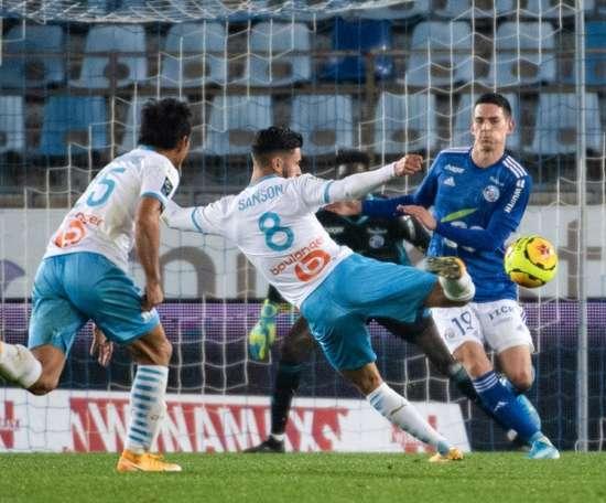 Sanson strike edges Marseille past struggling Strasbourg