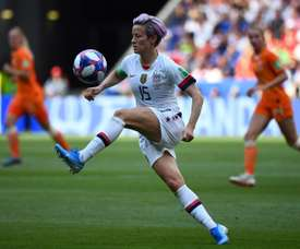 Rapinoe will not play due to concerns about the spread of coronavirus. AFP