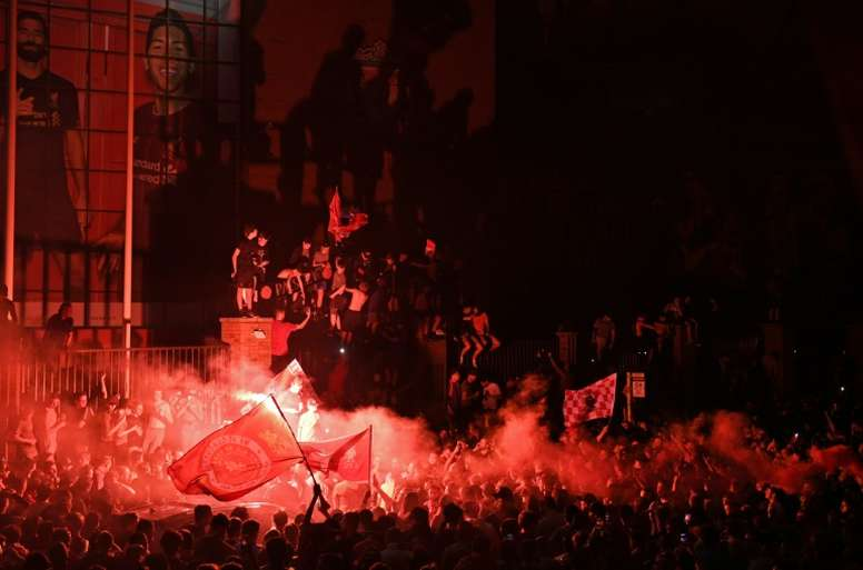 Klopp admonishes Liverpool fans after chaotic celebrations. AFP