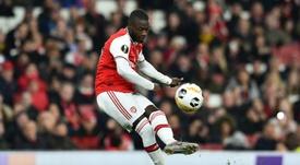 Pépé fait le bilan de son début de saison. AFP