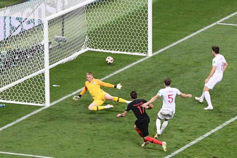 Mandzukic's goal secured victory for Croatia. AFP