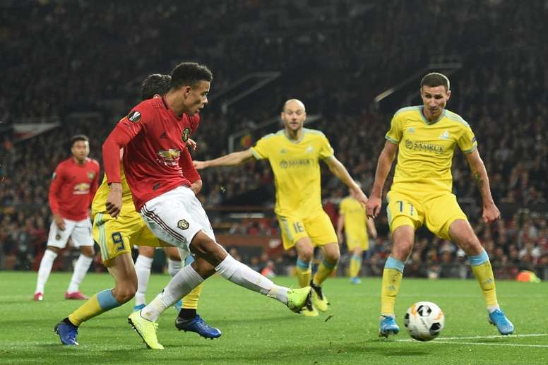 Teenager Greenwood scored Man United's only goal. AFP
