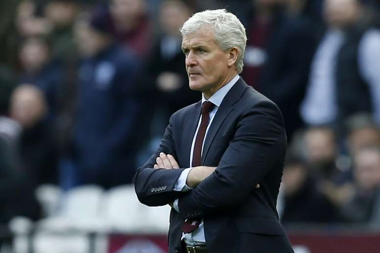Mark Hughes was not happy with the result of their final pre-season friendly. AFP