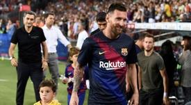 Julio Alberto alabó el nivel de Leo Messi. AFP