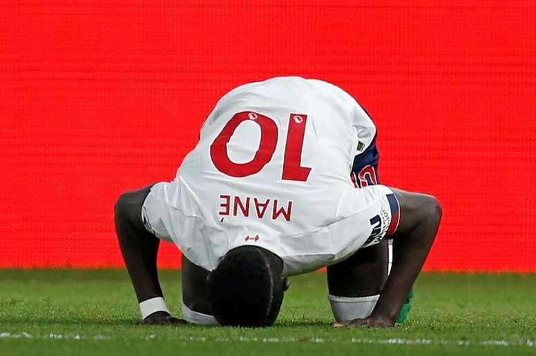 Le message de Sadio Mané après le Ballon d'Or. AFP