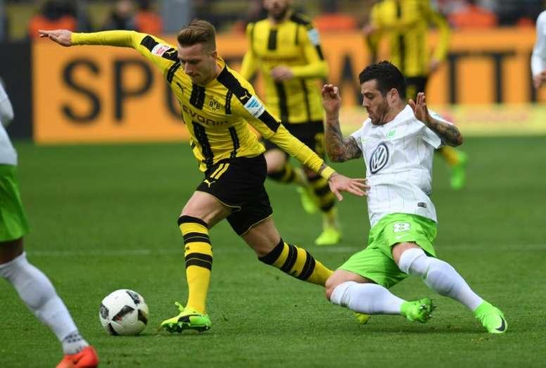 Prováveis escalações de Wolfsburg e Borussia Dortmund. AFP