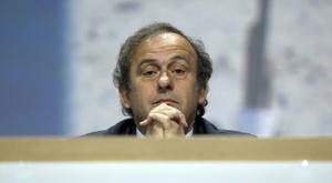 Platini is against VAR. AFP