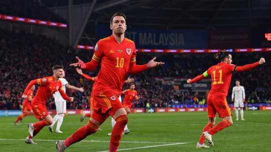 Ramsey scored a brace for Wales as they qualified for Euro 2020 against Hungary. AFP
