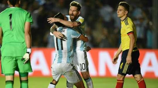 La historia está con Argentina en su duelo ante Colombia. AFP
