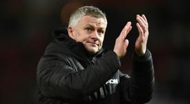Solskjaer says 'smiles back on Man Utd faces' ahead of derby. AFP