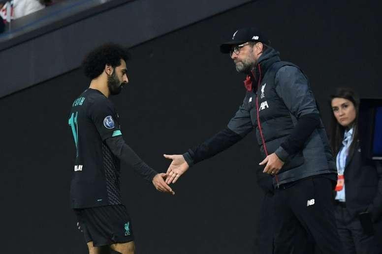 Salah étant dans le viseur de l'Atlético Madrid. AFP