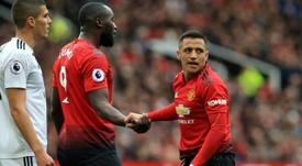 Lukaku apprécie Sanchez. AFP