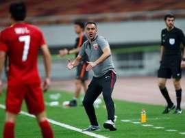 Pereira, feliz por romper el reinado del Guangzhou. AFP