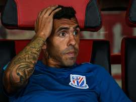 Tevez's time at Shanghai Shenua looks to have come to an end. AFP