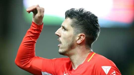 Jovetic veut jouer l'Europe avec l'ASM. AFP
