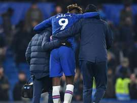 Lampard does not know how long Tammy Abraham will be out injured for. AFP