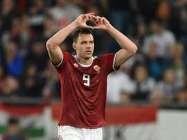 Szalai scored the winner for the Hungarians. AFP