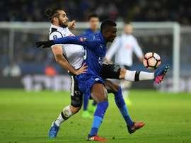 El Leicester venció al Derby County en el 'replay'. AFP