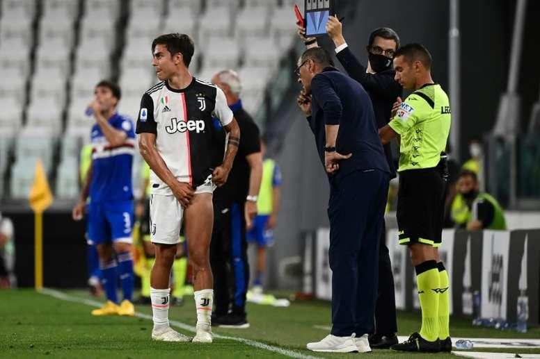 Sarri dans le flou pour Paulo Dybala. AFP