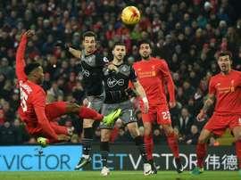 El Liverpool no pudo con el Southampton y se quedó a las puertas de la final. AFP