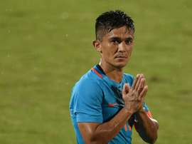 Chhetri has been as prolific as Messi. AFP