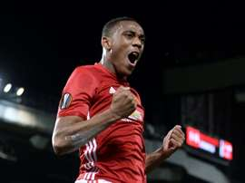 Martial scored and got an assist in his side's 4-1 Carabao Cup victory over Burton Albion. AFP