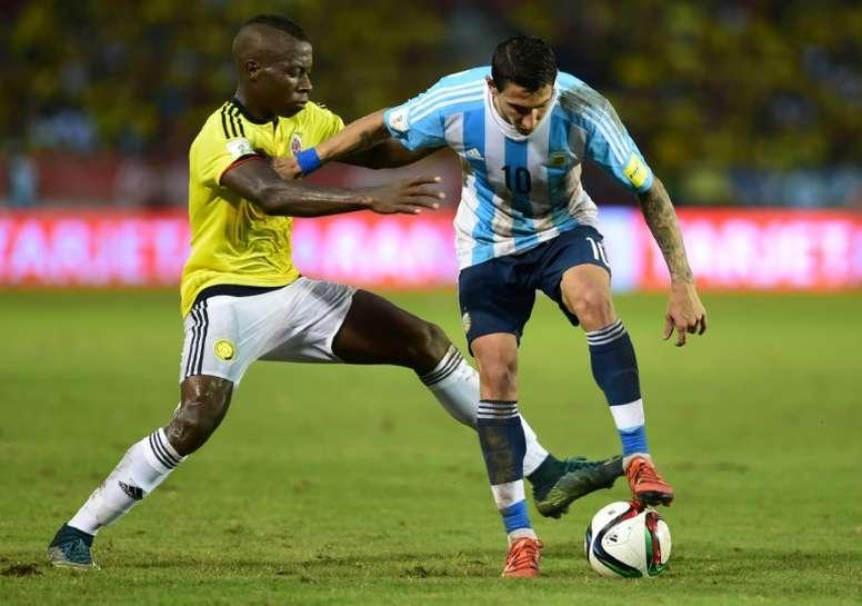 Helibelton Palacios está a punto de ser 'verdolaga'. AFP