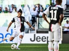 CR7 en conférence après le match contre Torino. AFP